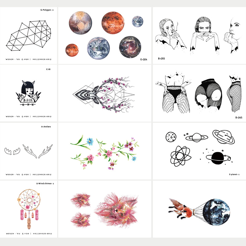30 Sheets/lot Special Original Waterproof Temporary Tattoo Stickers for Adults Kids Body Art Fake Tatoo for Women Tattoos original 3d individuality design waterproof temporary tattoo stickers