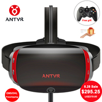 ANTVR 2017 New Virtual Reality Glasses 3d vr PC headset 5.5Dual OLED Screen 2K VR Helmet with X box compatible Steam games 2C