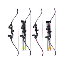 JANDAO ZYLG Metal Riser Takedown Recurve Hunting Bow Right Hand Black Riser Bow Length 60″