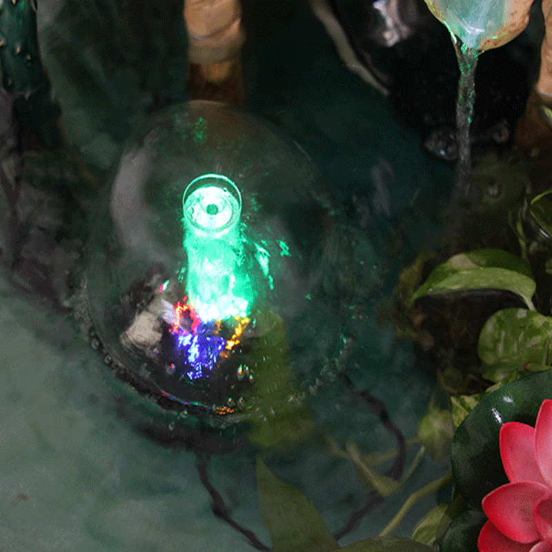 LED Mushroom Fountain With 8W/12V Submersible Pump Rockery Pond Pool Aquarium Landscaping Indoor Garden Water Fountains