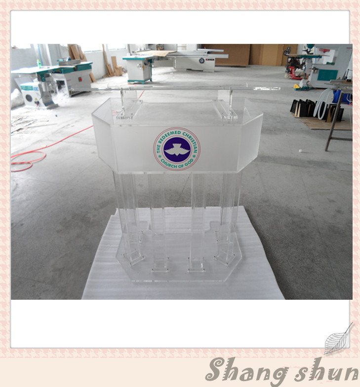 Large Plexiglass Lectern Podium, Conference Lectern/Rostrum Acrylic Lectern Podium, Modern Church Podium, Church Clear Lectern