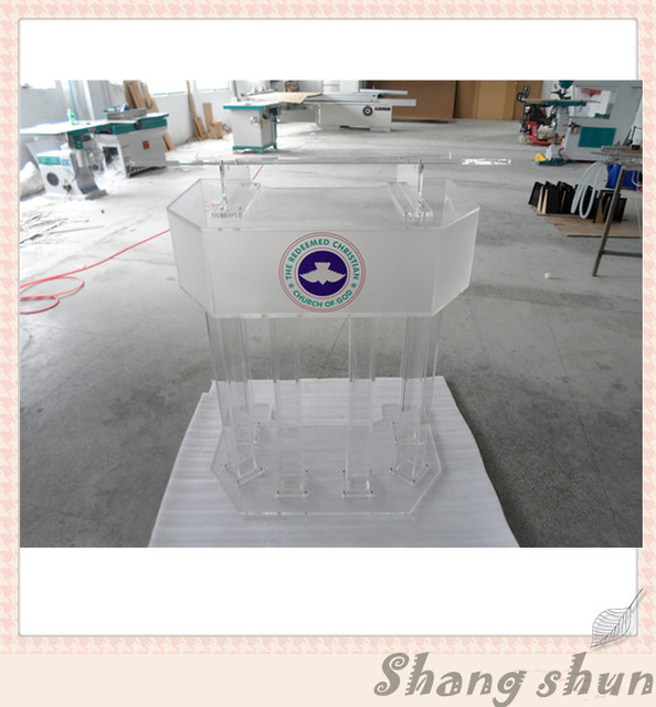 Large Plexiglass Lectern Podium, Conference Lectern/Rostrum Acrylic Lectern Podium, Modern Church Podium, Church Clear Lectern
