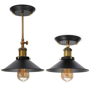 Retro luces colgantes para uso en interiores lámpara de desván nórdico lámpara colgante restaurante cocina luz suspensión luminaria hogar iluminación Industrial