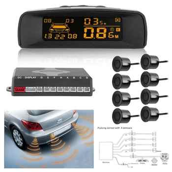 Visible Auto LCD Car Parking Monitor Sensor Kit Car Parking Assistance Detector Rear Reverse Backup Radar System witn 8 Sensors - DISCOUNT ITEM  30 OFF Automobiles & Motorcycles