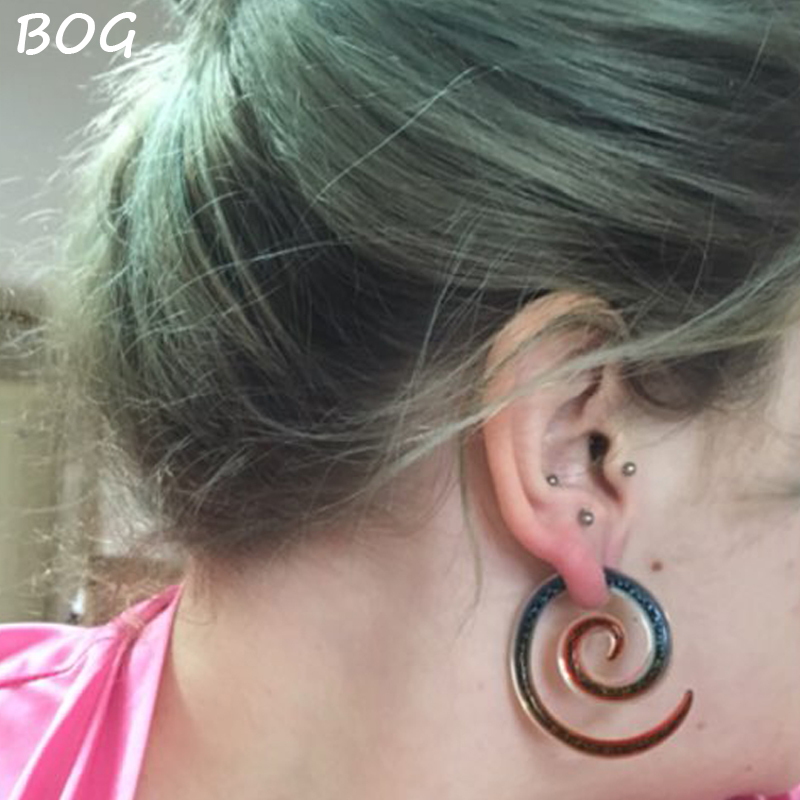 PAIR OF PYREX GLASS 0G TUNNELS PLUGS BODY JEWELRY PLUG GAUGES EAR GAUGE EARLETS