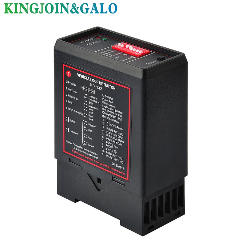 12VDC 24V 230V 120V single channel inductive vehicle loop detector controller module for BFT CAME NICE barrier gate opener motor single channel 230v 120v vehicle detection loop detector for parking access and traffic control