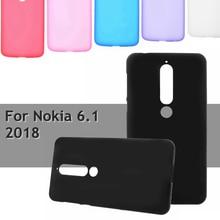 Coque for Nokia 6.1 2018 Phone Case Matte Soft Cases for Nokia6.1 Cover Smartphone Capa TPU for Nokia 6.1 Telephone Funda