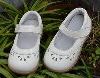 בנות נעלי עור אמיתי מגזרות מרי ג 'יין פרח ורוד לבן אביב קיץ סתיו בחתונה christenning זול באיכות