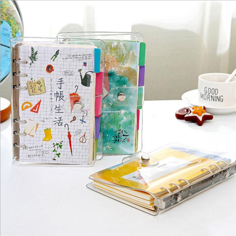 Creative small writing pads fresh creative A6 notebook PVC binder hand traveler sketchbook school office supplies kids gift