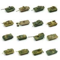 1 stücke 1: 72 4D Kunststoff Montieren Tank Kits Weltkrieg II Modell Puzzle Montage Military Sand Tisch Spielzeug Für Kinder