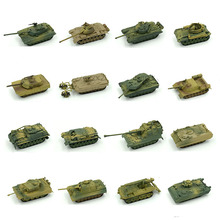 1pcs 1:72 4D Plastic Assemble Tank Kits World War II Model Puzzle Assembling Military Sand Table Toys For Children цена в Москве и Питере