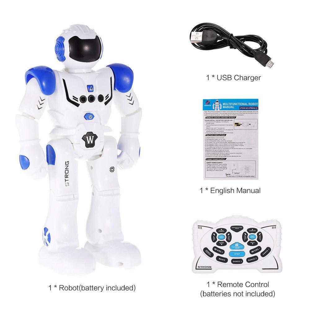 HT9930-1 Intelligent Programming Gesture Sensing LED Light Dancing Humanoid Robot RC Toy For Boy Kid Children Robot Toy