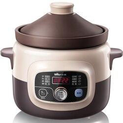 220V niedźwiedź marka automatyczne elektryczny gotowania garnek do gotowania Redware duszenia Saucepot Stewpot wielofunkcyjny elektryczny garnek w Wolnowary od AGD na