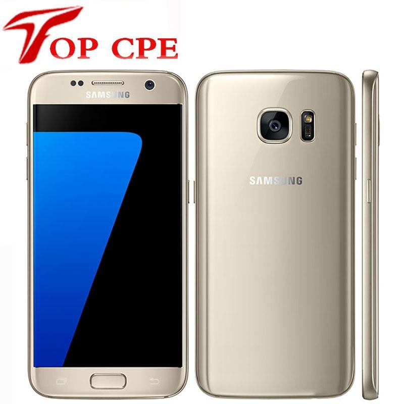 Samsung galaxy s7 g930f g930v g930p, 5.1 polegadas 4gb ram 32gb rom 4g lte nfc gps celular desbloqueado com 12mp