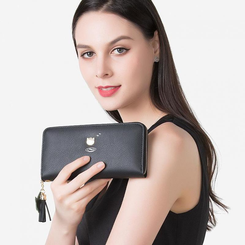 2018 new multi-function mobile phone bag , long Style Casual ladies Clutch wallet candy color leisure wallet hand bag.