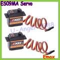 Бесплатная доставка 100% оригинал 2x EMAX ES09MA Metal Аналоговый Удельный Swash Сервоприводы для 450 Вертолет Хвост лучше emax es08ma ii