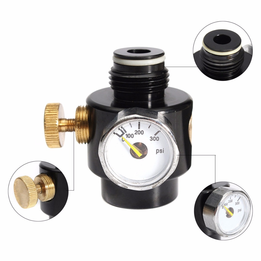 Mayitr Co2 & High Pressure Compress Air Tank Regulator Valve 0-200psi Copper Alloy rice cooker parts steam pressure release valve