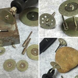 Image 4 - Heißer! 10Pcs Diamant Trennscheiben Cut off Halten Rad Set Für Dremel Dreh Werkzeug Schneiden/Schleifen/Gravur werkzeuge