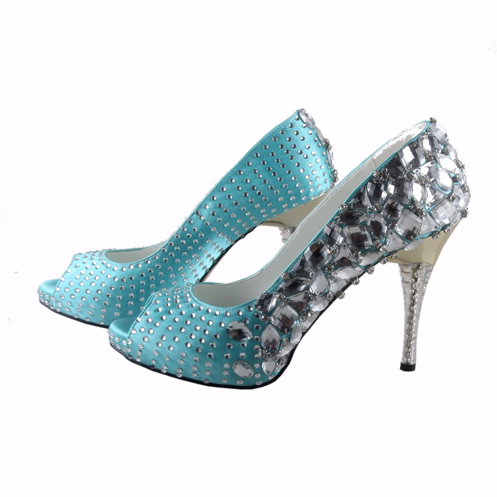 sparkly turquoise heels | Turquoise wedding shoes, Blue