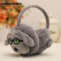 2017 Fashion Earmuffs Cartoon Dog Modeling Winter Warm Earmuffs For Girls And Boys Gift Ear Warmers