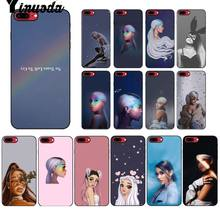 Yinuoda No Tears ซ้าย To Cry ariana grande สีดำ Tpu สำหรับ iPhone X XS MAX 6 6s 7 7plus 8 8Plus 5 5S SE XR(China)