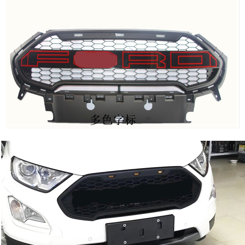 AUTO ACCESSORIES GRILL FRONT RACING GRILLS FRONT BUMPER MASK FIT FOR FORD ECOSPORT 2018 5 pieces set front auto fog lights with racing grills cable auto accessories for volkswagen jetta mk6 2011 2014 parts p22