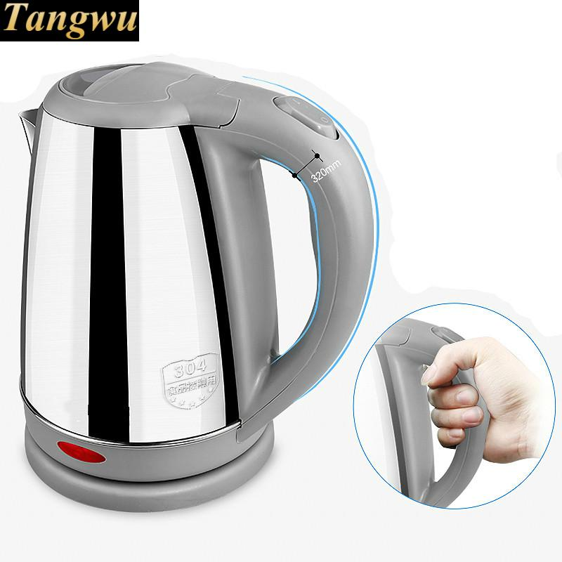 electric kettle 304 stainless steel used power automatically Safety Auto-Off Function Overheat Protection маслоотсос 6 л мастак 130 10006