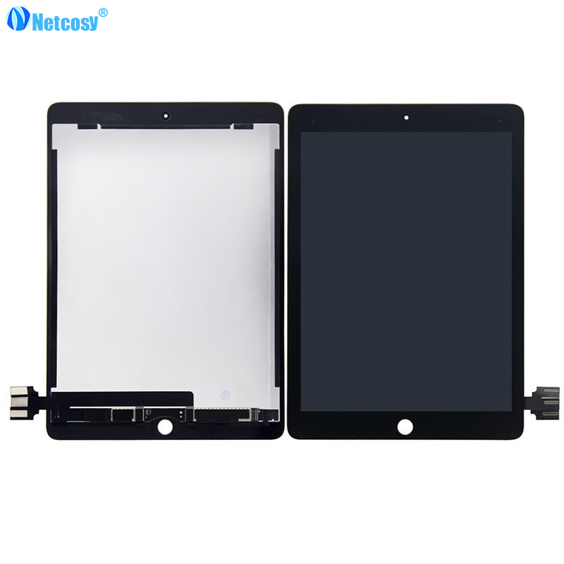 Netcosy Black / White High quality Full Screen For ipad Pro 9.7 LCD display+Touch screen assembly repair for ipad Pro 9.7inch 10pcs new high quality full lcd display screen