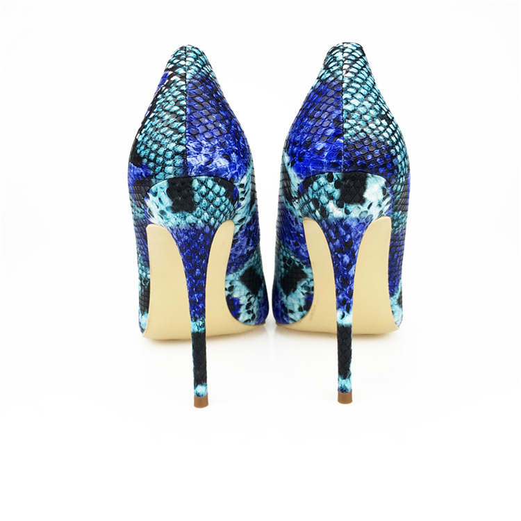 NEW Arrival Women Shoes Blue Snake Printed Sexy Stilettos High Heels Pointed Toe Women Pumps HTB1r0sebNHI8KJjy1zbq6yxdpXa6