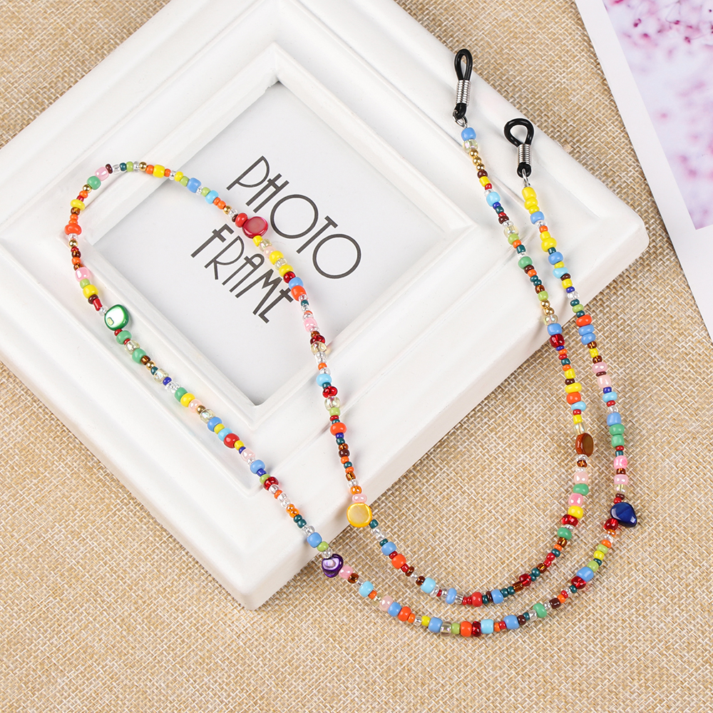 1Pcs Fashion Reading Glasses Chain Retro Beads Eyeglass Sunglasses Spectacle Cord With Tassels Neck Strap String Chain Eye Wear