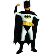 Boys Batman cosplay Costume for men adult Superhero Halloween Fantasia Carnival anime cosplay jumpsuit fancy dress for kids
