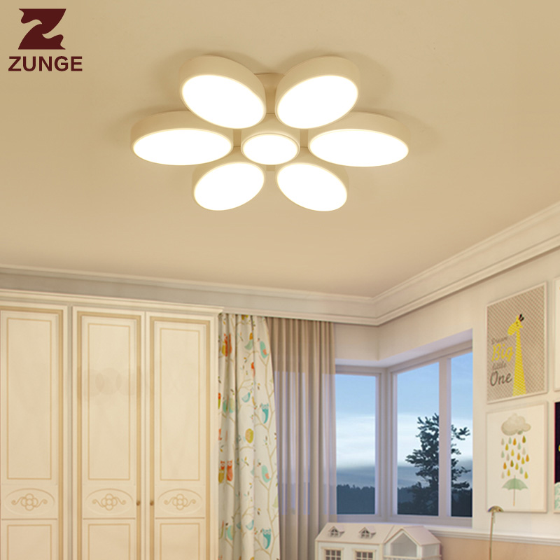 ZUNGE led ceiling lamp creative children room simple modern bedroom lamp P345 boys and girls room lamp living room lamp modern led ceiling lamp aisle simple living room porch balcony study room long lamp