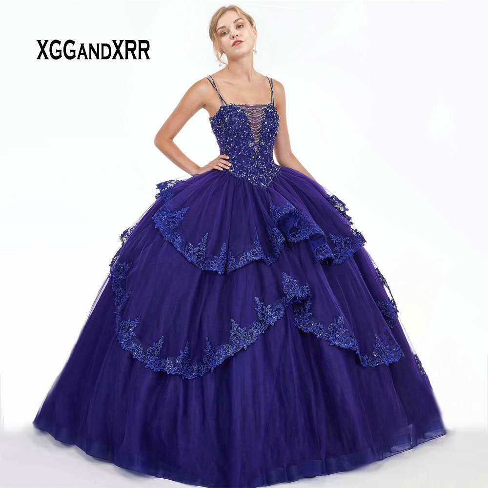 Luxury Quinceanera Dresses 2019 With Jacket Beading Crystal Applique Ball Gown vestidos robe de bal Sweet 16 Dresses Plus Size