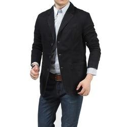 Nianjeep 2017 new autumn casual blazers men fashion jacket denim cotton coats male suits brand clothing.jpg 250x250