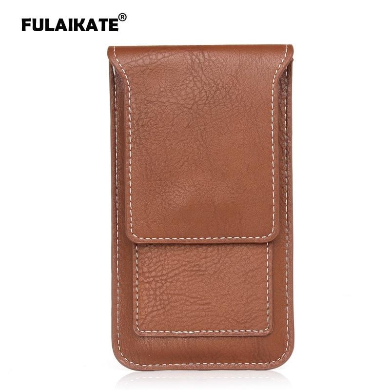 """FULAIKATE 5.1 """"tas Pinggang Universal untuk Samsung S6 Edge kasus multi-fungsi sarung untuk Samsung S7 Edge kantong kartu pouch"""