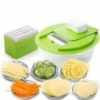 Multifunctional Vegetable Slicers With 5 Stainless Steel Blades Fruit Shredder Carrot Cutter Grater Kitchen Accessories Hrks2