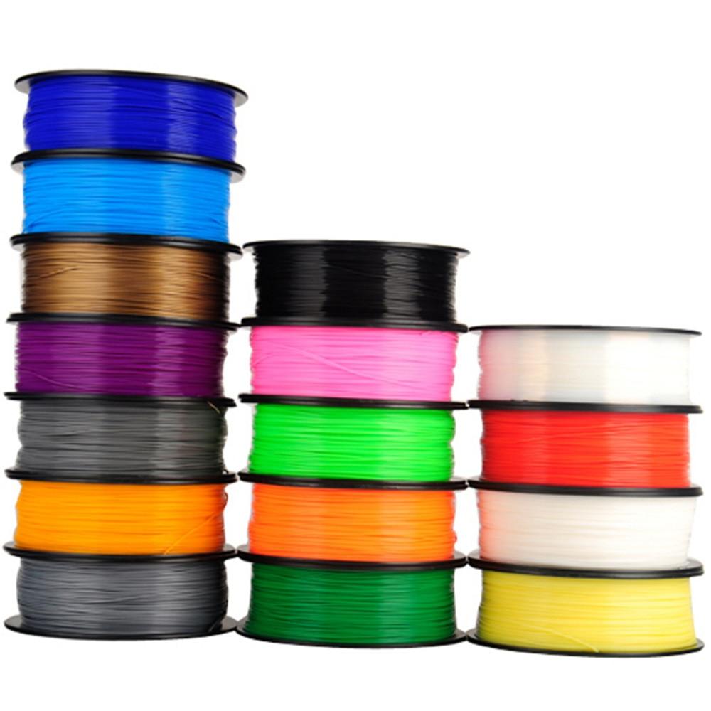5PCS Mixed 5 Colos 1.75mm 1KG/PC Solid PLA ABS Filament For 3D Printer 3D Pen Filament Material