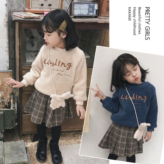 Children's clothes 2019 spring and winter style infant baby kids clothing sets girls coat and skirts and bags 3 pieces jackets