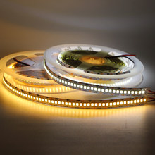 5m 10mm PCB 2835 SMD 1200 LED Strip tape DC12V waterproof Flexible Light 240leds/m Warm White Double PCB Tape string rope 12V(China)