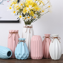 Stylish simplicity Modern ceramic vase Dried flowers Living room home accessories Countertop decoration