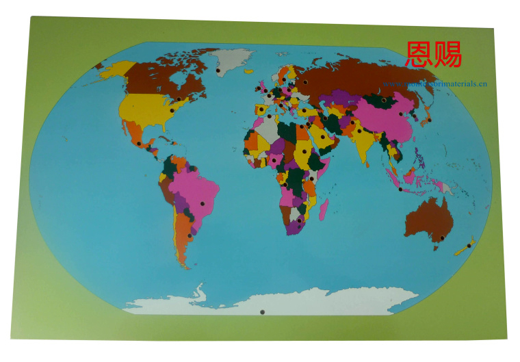 World map and 36 flags montessori materials ce astm educational 6023 world map and flags 14 gumiabroncs Gallery