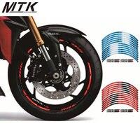 MTKRACING Motorcycle Fit For SUZUKI GSXS1000 GSXS1000F 12 X Thick Edge Outer Rim Sticker Stripe Wheel Decals