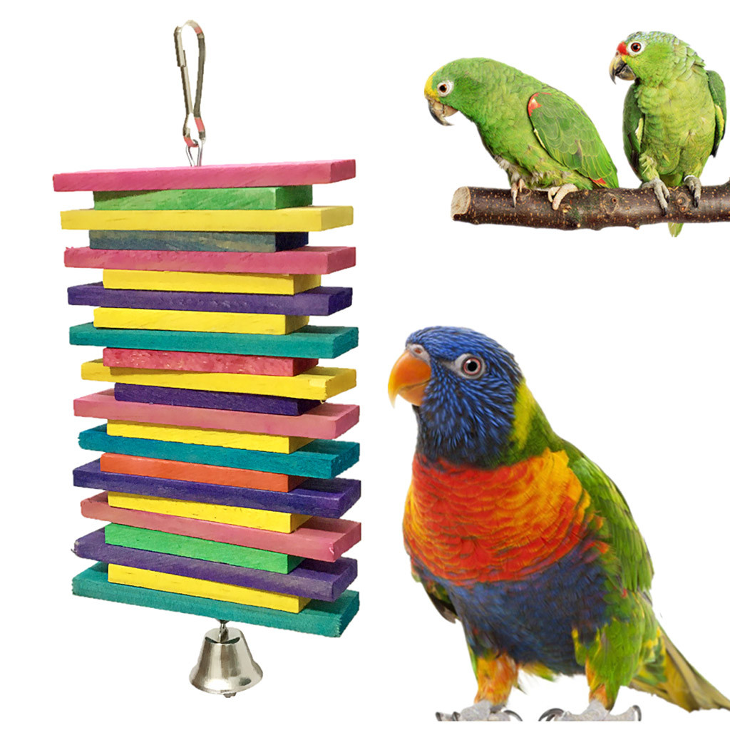 New Style Pet Parrot Toys Wooden Hanging Toys For Parrots Bird Funny Hanging Standing Toy Pet Bird Training Supplies Z0604 G30 Bird Toys Aliexpress