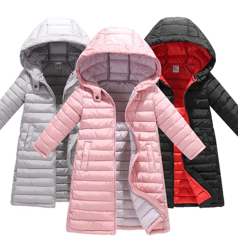 Children Winter Jacket boys Girls Winter   Coat   Baby Kids Warm Hooded Outerwear Snow Wear Parka Long   Down     Coats   For Teenage 3-10y