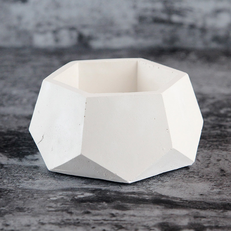 New Silicone Concrete Mold Geometric Flower Pots Cement Vase Mould Handmade Planter Multi flower Plate Garden Decoration Tool in Clay Molds from Home Garden