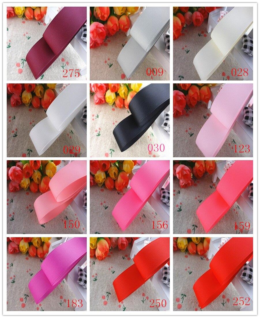 1 «мм 25 мм 10 ярдов сплошной цвет grosgrain ленты Подарочная упаковка DIY материалы ручной работы YM18010107