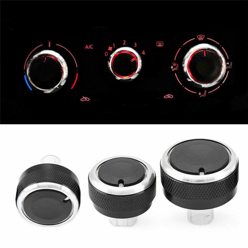 3 stücke Klimaanlage Heizung Control Knob Schalter für Golf MK5 MK6 Caddy Passat Set Umrüstung Klimaanlage Taste Schalter