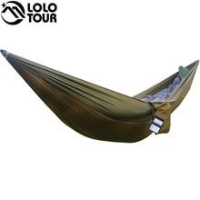 Portátil una persona paracaídas Hamaca Oscilación de interior al aire libre de Ocio Acampar cuelgue Cama Jardín hamak Dormir hamaca hamaca 230*90 cm