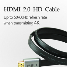 Linkey HDMI Cable TO HDMI HD 4K cable Metal Case Flat line 0.5M 1M 1.5M 2M 3M for Computer TV Camera PS4 / PS3 Projector Cable