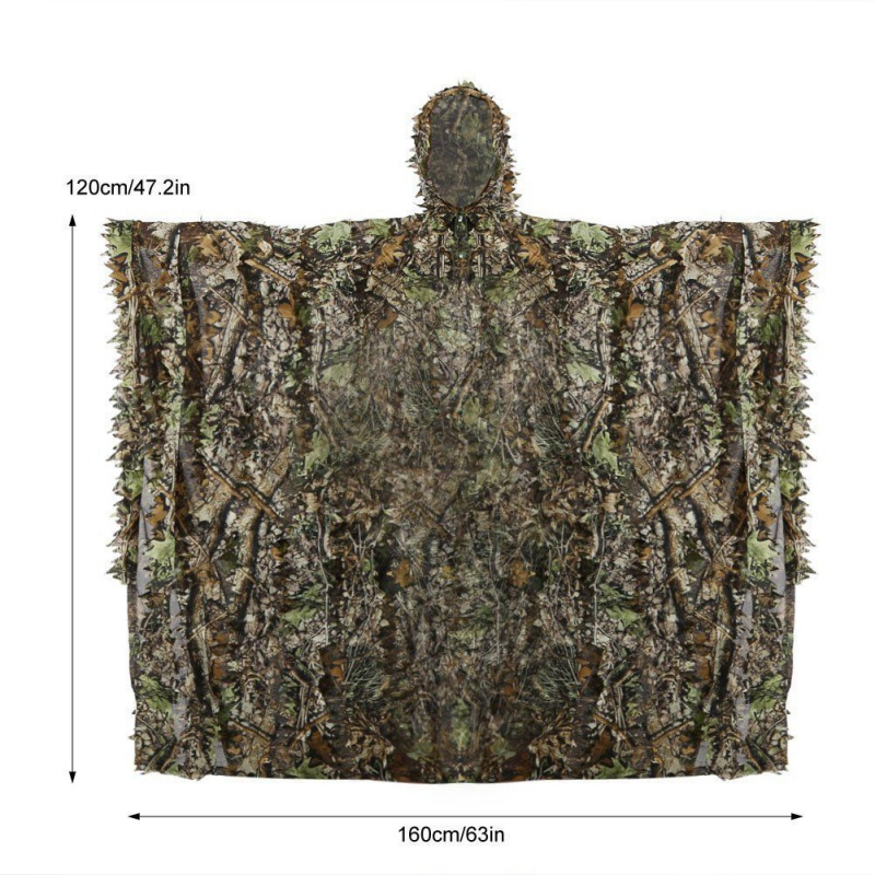 d5932b6a88dd0 Camouflage Ghillie Suits Hunting clothes Cloak 3D maple leaf Bionic Ghillie  Suits Yowie sniper birdwatch airsoft